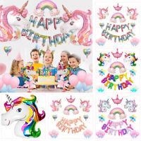 Unicorn Fantasy Horse Kids Girl Birthday Love Party Supplies Balloons Set Decor