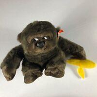 "Embrace Plush Gorilla VTG 1989 Stuffed Banana 8"" Toy Monkey Ape 80s Kids Cuddly"