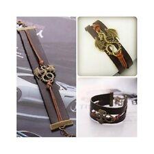 Leather Targaryen Dragon Charm Bracelet Vintage Looking Game of Thrones Inspired