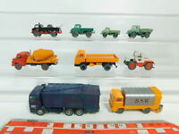 BO508-1# 9x Wiking H0/1:87 MB-Modell: Betonmischer+Unimog+MB-Trac etc, 2. Wahl