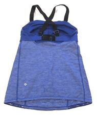 Lululemon Run Catch Me Tank Top in Pigment Blue Tonka Stripe sz 6