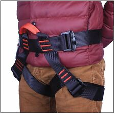 90% New Safe Safety Seat Belt Climbing Harness Outdoor Rock Rappelling US Ship