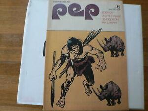 PEP COMIC 1973- VOETBAL POSTER NEDERLAND NOORWEGEN HULSHOFF,BROKAMP,DE JONG,KUIP