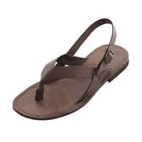 Sandali uomo SUOLA CUOIO Made in Italy - Handmade leather men sandals Urlo Brown