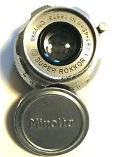 Leica Screw-Mount Lens made by Minolta Chiyoko 45mm f/2.8 Super-Rokkor Lens