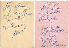 WEST TORRENS SANFL 1950/60'S LEGEND GREAT RARE SIGNED ALBUM PAGE COA