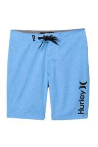 Hurley Boys 20/30 University Blue Heather Surf Board Shorts Beach Summer Swim