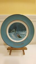 """Christmas Plate Series 3Rd Edition """"Bringing Home The Tree"""" Vintage 1976"""