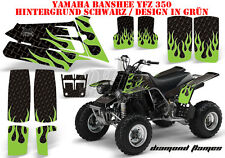 AMR RACING DEKOR GRAPHIC KIT ATV YAMAHA BANSHEE YFZ 350 DIAMOND FLAMES B
