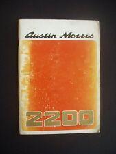 AUSTIN / MORRIS 2200 HANDBOOK ~PUBLICATION PART No. AKD 7868