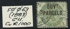 GREAT BRITAIN - 1883 QV 'GOVT PARCELS' 9d 'DULL GREEN' SGØ63 GU Cv £1,000 [6923]