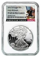 2019 W 1oz Silver Eagle Proof NGC PF69 Ultra Cameo Early Releases Black Label