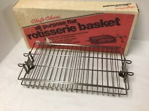 Vintage Chef's Choice Rotisserie Basket Flat All Purpose 14x7x2