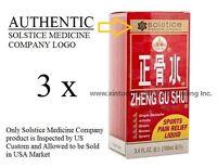 3瓶 正骨水 3 Bottles Zheng Gu Shui External Analgesic Lotion 3.4fl oz (100ml)