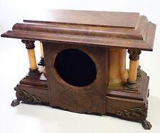 Antique Seth Thomas Curved Side Adamantine Mantel Shelf Clock Case Parts