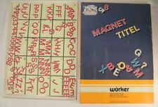 Vintage Wurker Magnetic Tiling Letters Made in Germany Magnetic Board
