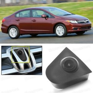 Wide Degree CCD Car Front View Camera Logo Embedded for Honda Civic 2012-2015