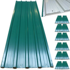12x Corrugated Roof Sheets Profiled Galvanized Steel Sheet Carport Roofing Metal
