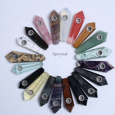 Random Shipment! Mixed Gems Quartz Crystal Smoking Pipes Healing Wands Wholesale