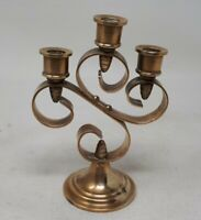 Vintage Solid Brass Small Candelabra 13 x 9.5 cms