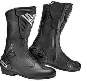 Sidi Black Rain Waterproof Motorcycle, Motorbike Boots