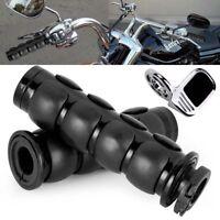 Black Hand Grips Throttle Boss Fit Yamaha V-Star 950 1100 1300 Classic Stryker