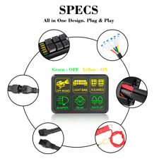 6Gang Switch Panel Electronic Relay System Relay Control Box Car Boat Marine 12V