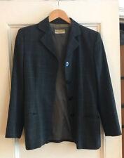 Giorgio Armani Checkered Dark Gray Wool Crepe Women's Skirt Suit, 42/8
