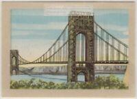 George Washington Bridge Hudson New York City  Vintage Ad  Trade Card