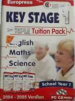 Key Stage 1 Maths English Science Triple Tuition Pack PC CD ROM GAMES