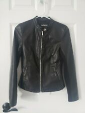 New listing Express Extra Small Black Motorcycle Style Faux Leather Jacket