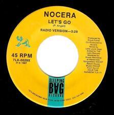 NOCERA Let's Go Vinyl Record 7 Inch US Sleeping Bag 7LX-2209X 1987