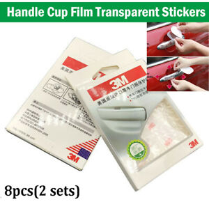 8PCS 3M Self-adhesive Clear Door Cup Handle Paint Scratch Protection Guard Film