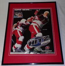 NHL Hitz Pro 2003 PS2 Framed 11x14 ORIGINAL Advertisement Nicklas Lidstrom