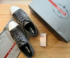 NWB Prada mens sneakers Shoes Loafers us size 11.5 Gray
