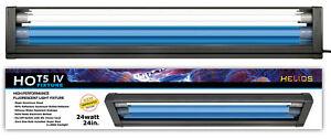 HO T5 Dual Aquarium Light Fixture & 2x HO T5 Lamps 11000K Day & Blue Marine Fish