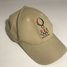 2008 Beijing China USA United States Tan Beige Cap Hat Men's Adjustable Strap