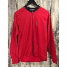 Pearl Izumi Long Sleeve Red Half 1/2 Zip XL Cycling Bike Jersey Back Pockets