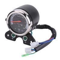 Universel Digital Indicateur de vitesse Rétro-éclairage Odomètre Compteur Moto