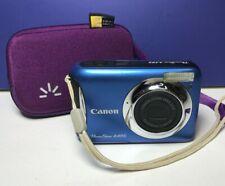 Canon PowerShot A495 10.0MP Digital Camera Blue w/ Purple Case Logic Case
