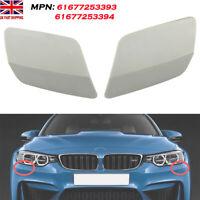 UK L+R Side For BMW E92 E93 LCI Headlight Washer Jet Spray Nozzle Cover Cap