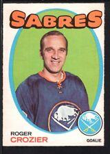 ROGER CROZIER 1971/72 O-PEE-CHEE OPC HOCKEY CARD #36 SABRES