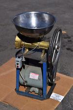 Brass Auger 4 Hp Buffalo Bbq Chopper Meat Grinder Cutter Food Processor + Stand