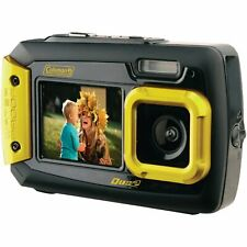 Coleman Duo2 20 MP Waterproof Digital Camera with Dual LCD Screen (Yellow)