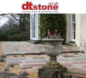 SAMPLE - INDIAN SANDSTONE MOSS GREEN ANTIQUED FLAGS / PATIO PAVING