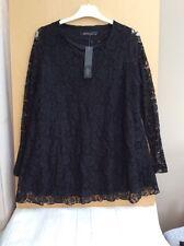 ZANZEA Collection-Black lace Tunica Top-Taglia M-L/S-NUOVO CON ETICHETTE