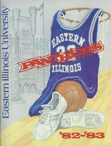 1982-83 Eastern Illinois Basketball Media Guide Signed HC 2AC 15PL Duckworth NBA