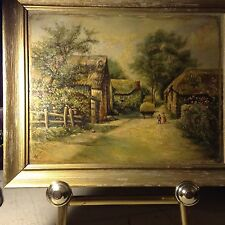 """Vintage, Original, Oil Pain, From Quijano, Sensitive,Mexcan Painter, Size 12""""X26"""