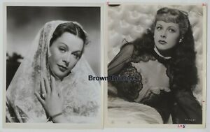 Vintage 1940s Hollywood's Leading Lady Hedy Lamarr Publicity Photos (2) BB