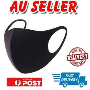 Unisex Washable Black Fashion Face Mouth Mask Cover Protective Masks Reusable